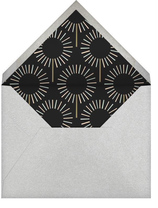 Year of the Sparkler - Silver/Black - Paperless Post - Anniversary party - envelope back