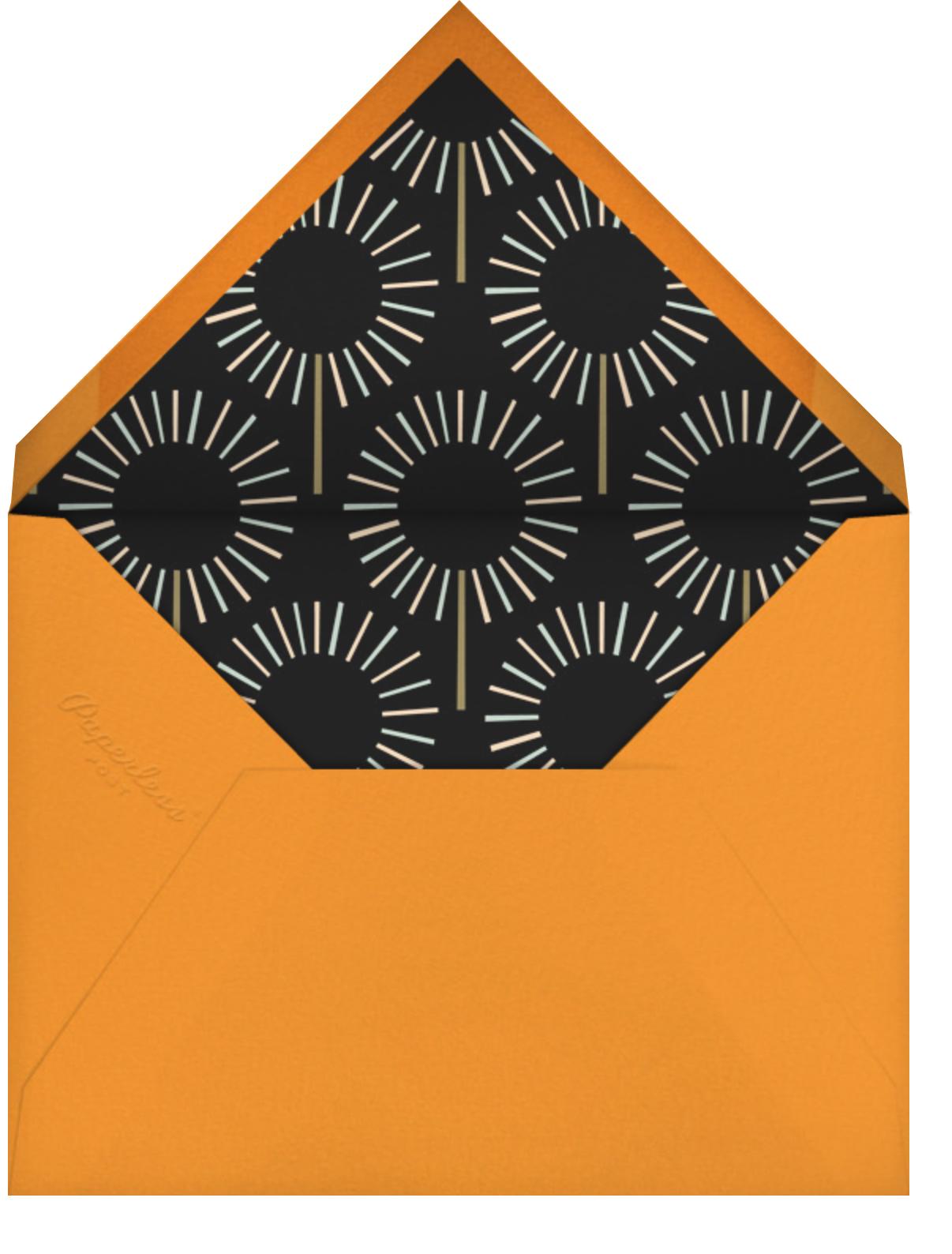 Year of the Sparkler (Photo) - Orange - Paperless Post - Kids' birthday - envelope back