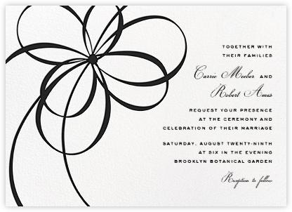 Belle Boulevard (Invitation) - Black - kate spade new york - Wedding invitations