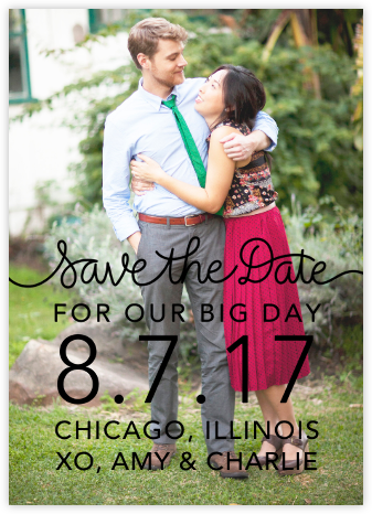 Our Big Day - Black - Crate & Barrel - Save the dates