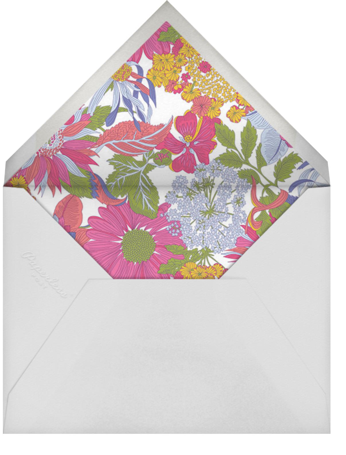 Angelica Garla (Invitation) - Liberty - Spring entertaining - envelope back