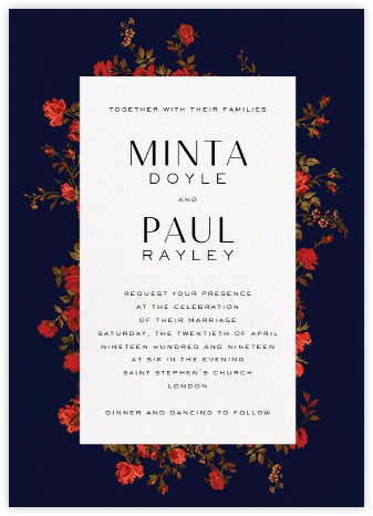 Elizabeth Moonlight (Invitation) - Liberty - Liberty London wedding stationery