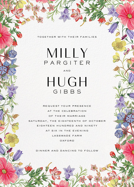 Archival Florals Invitation online at Paperless Post
