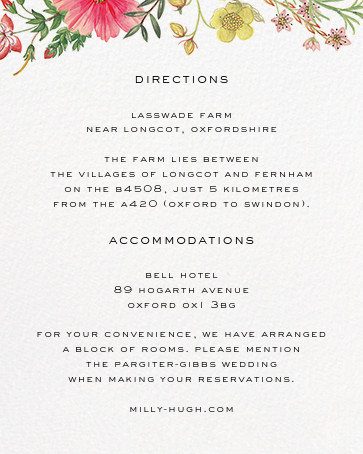 Archival Florals (Invitation) - Liberty - The Knot - insert front
