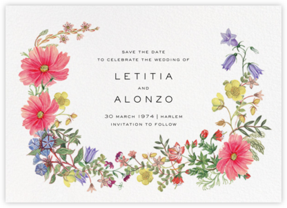 Archival Florals (Save the Date) - Liberty - Liberty London Stationery