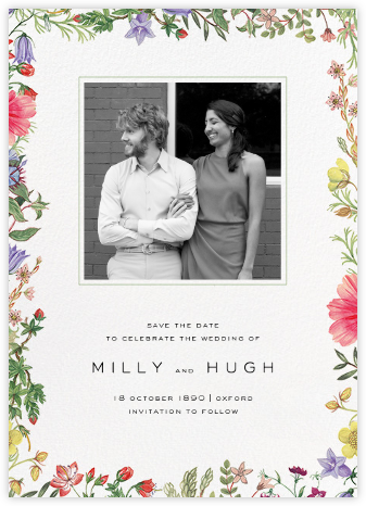 Archival Florals (Photo Save the Date) - Liberty - Liberty London wedding stationery