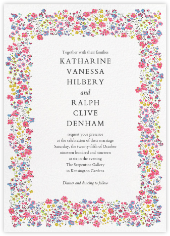 Phoebe (Invitation) - Liberty - Liberty London wedding stationery