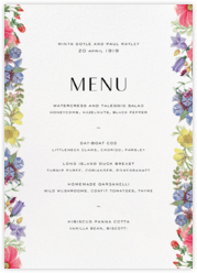 Archival Florals (Menu)