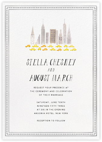 Mr. Big Apple (Invitation) - Mr. Boddington's Studio - Destination wedding invitations