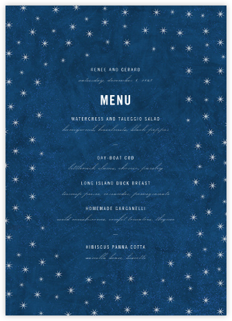 Celeste (Menu) - Paperless Post - Wedding menus and programs - available in paper