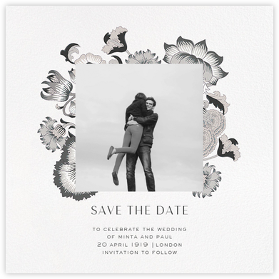 Lodden (Photo Save the Date) - Gray - Liberty - Photo save the dates