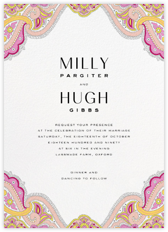 Lord Paisley Lawn (Invitation) - Liberty - Liberty London wedding stationery