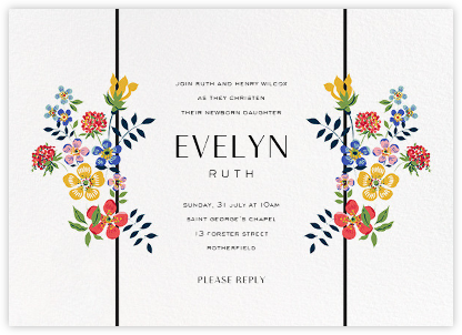 Edenham - Ivory - Liberty - Christening Invitations