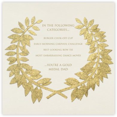 Gold Wreath - Paperless Post - Father's Day cards