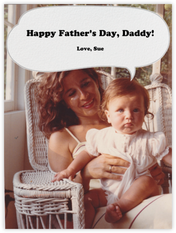 Speech Bubble - Paperless Post - Father's Day cards