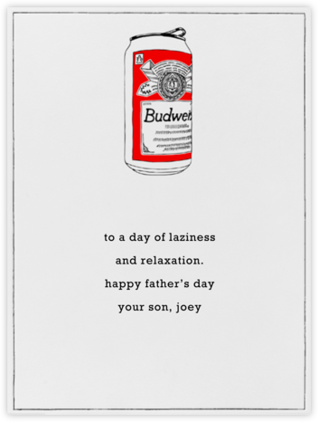 Bud Can - Paperless Post - Father's Day Cards