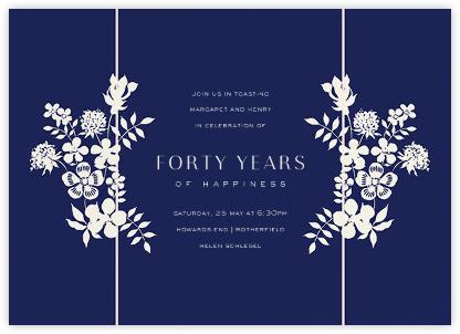 Edenham - Dark Blue - Liberty - Celebration invitations