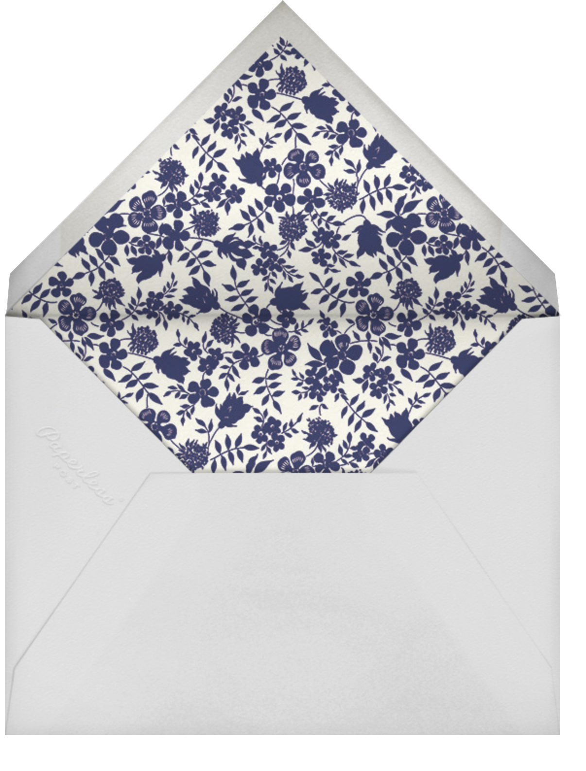 Edenham - Dark Blue - Liberty - Wedding brunch - envelope back