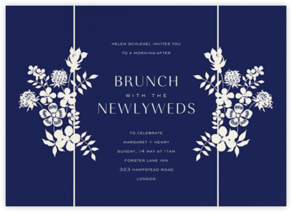 Edenham - Dark Blue - Liberty - Wedding Weekend Invitations
