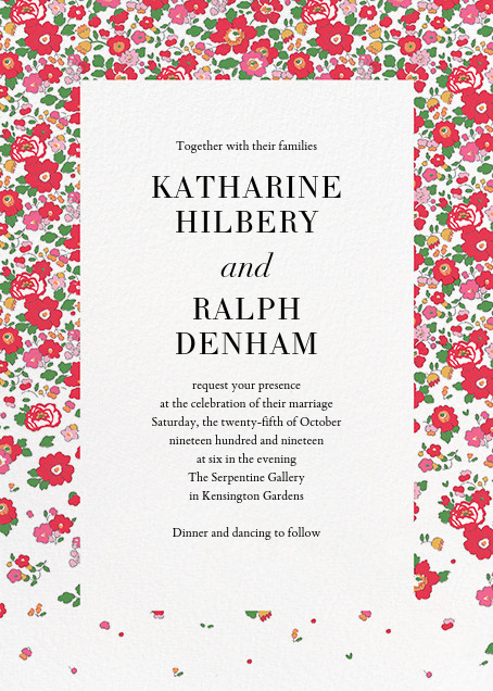 Liberty London wedding stationery online at Paperless Post