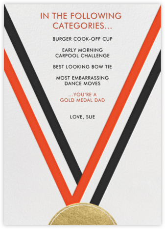 Medal - Blood Orange - Paperless Post - Father's Day Cards