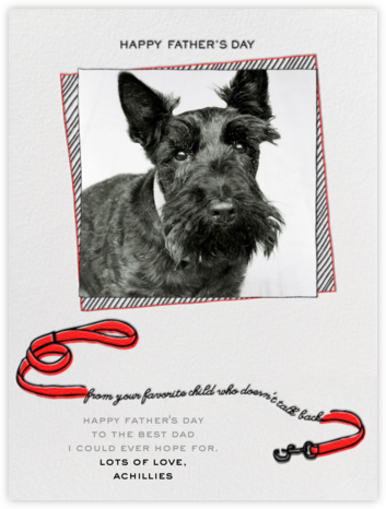 Father's Day Dog - Red - Paperless Post - Father's Day Cards
