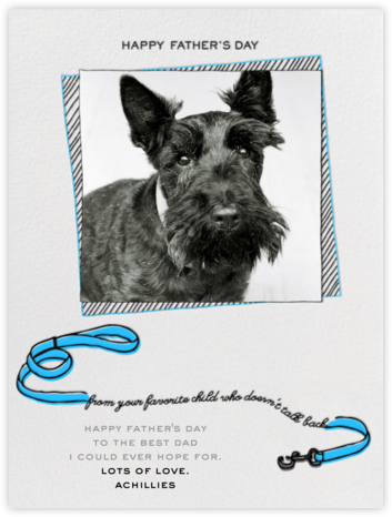 Father's Day Dog - Blue - Paperless Post -