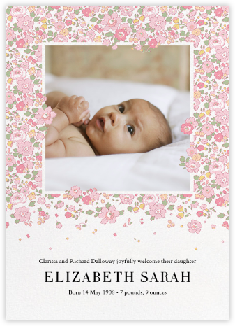 Betsy (Photo) - Blush - Liberty - Birth Announcements