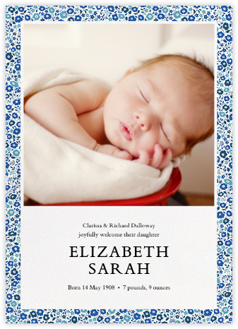 Fairford (Photo) - Lapis Lazuli - Liberty - Birth Announcements
