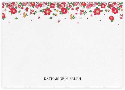 Betsy (Stationery) - Red - Liberty - Personalized Stationery