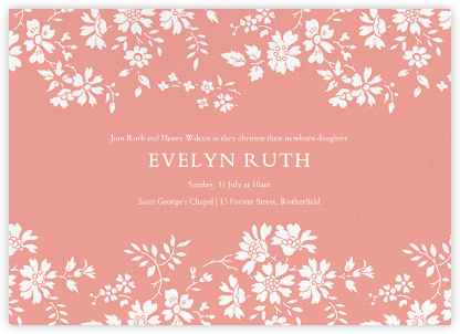Capel - Papaya - Liberty - Christening Invitations