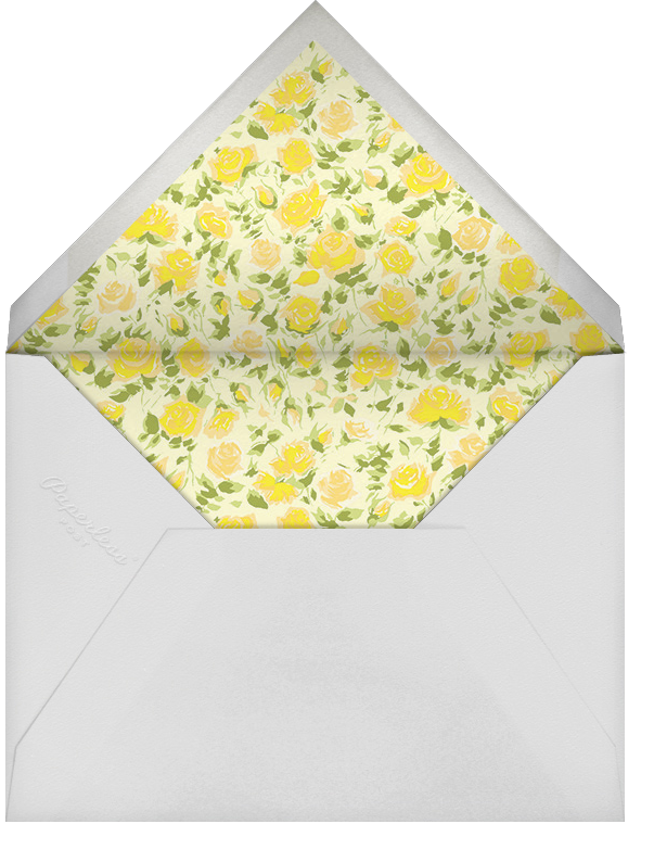 Ricardo's Bloom (Save the Date) - Yellow - Liberty - Save the date - envelope back
