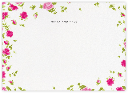 Ricardo's Bloom (Stationery) - Pink - Liberty - Personalized Stationery