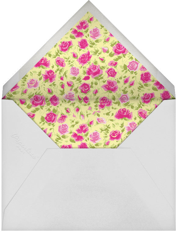 Ricardo's Bloom (Stationery) - Pink - Liberty - Personalized stationery - envelope back