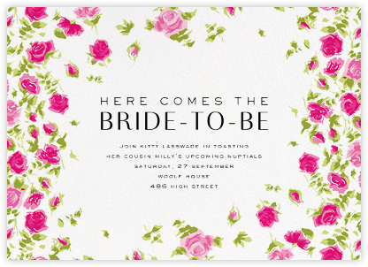 Ricardo's Bloom (Horizontal) - Pink - Liberty - Liberty London wedding stationery