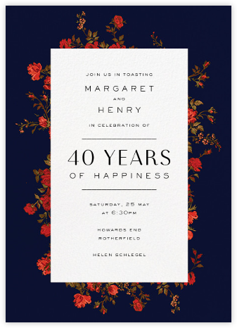 Elizabeth Moonlight - Liberty - Celebration invitations