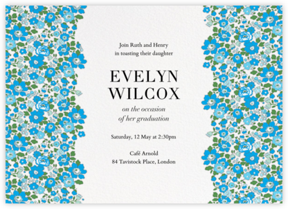 Betsy (Horizontal) - Capri - Liberty - Celebration invitations