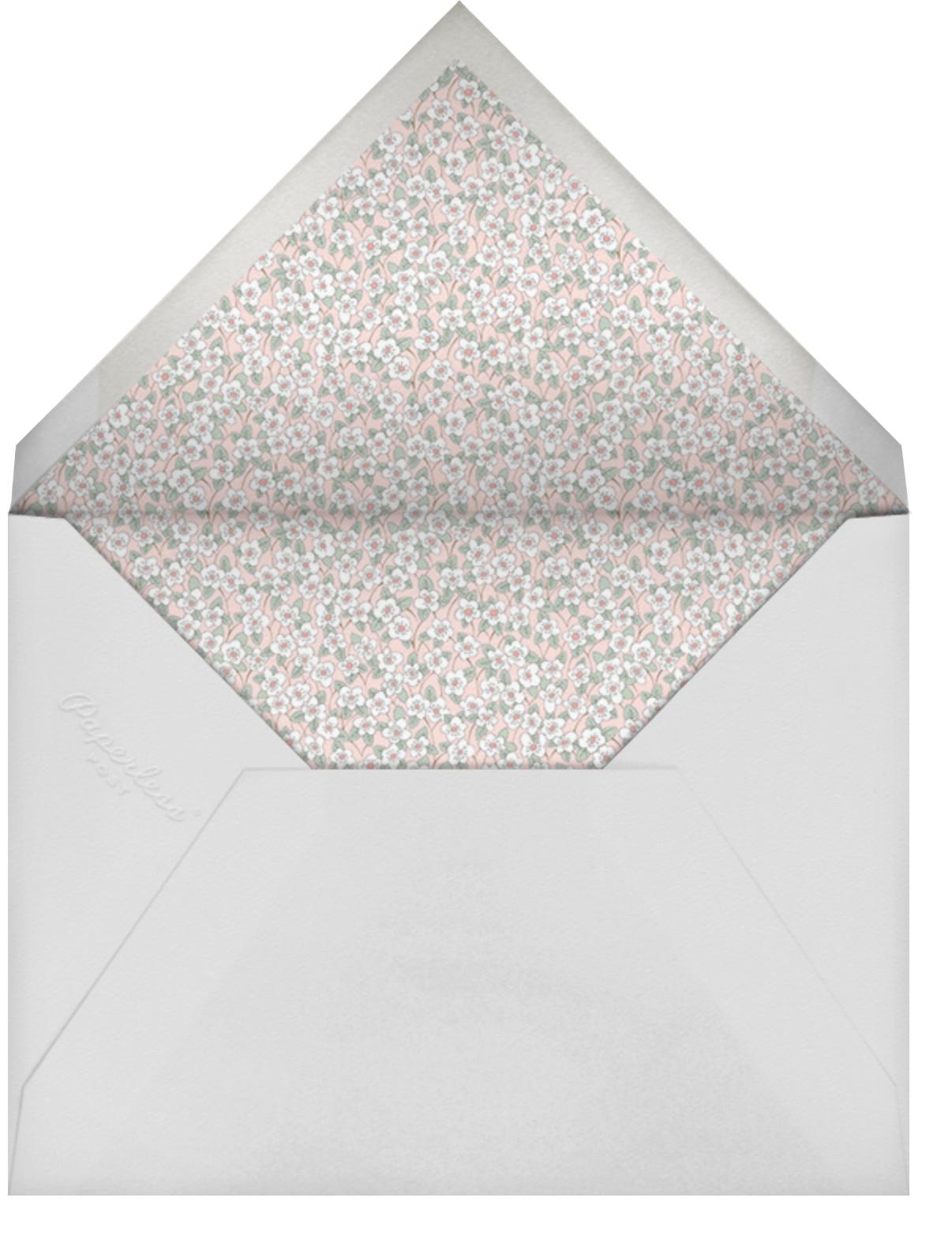 Ffion - Meringue - Liberty - Wedding brunch - envelope back