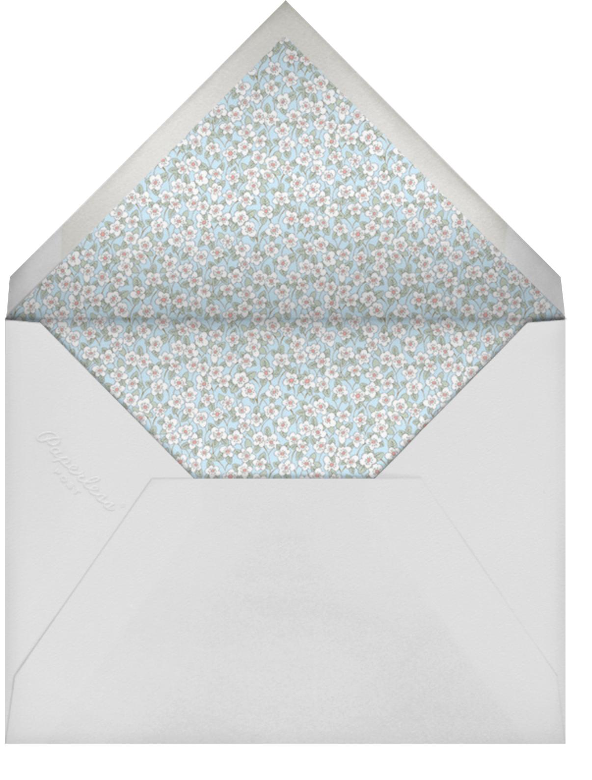 Ffion - Glacier - Liberty - Wedding brunch - envelope back