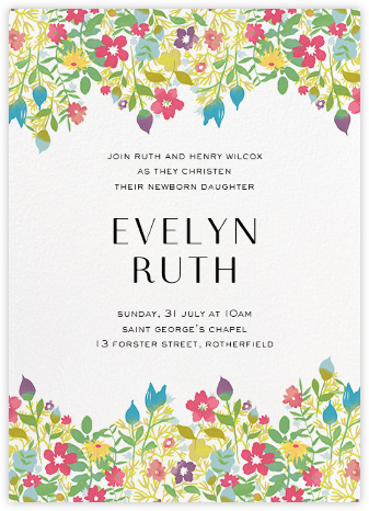 Rochester - Liberty - Christening Invitations