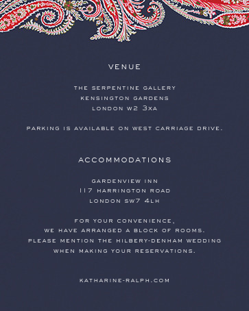 Felix and Isabelle (Invitation) - Red - Liberty - All - insert front