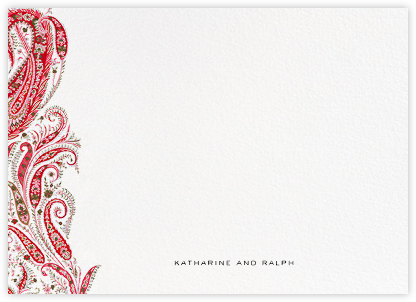 Felix and Isabelle (Stationery) - Red  - Liberty - Liberty London wedding stationery