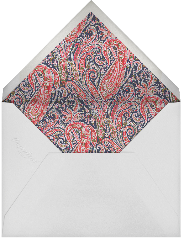 Felix and Isabelle (Stationery) - Red  - Liberty - Personalized stationery - envelope back