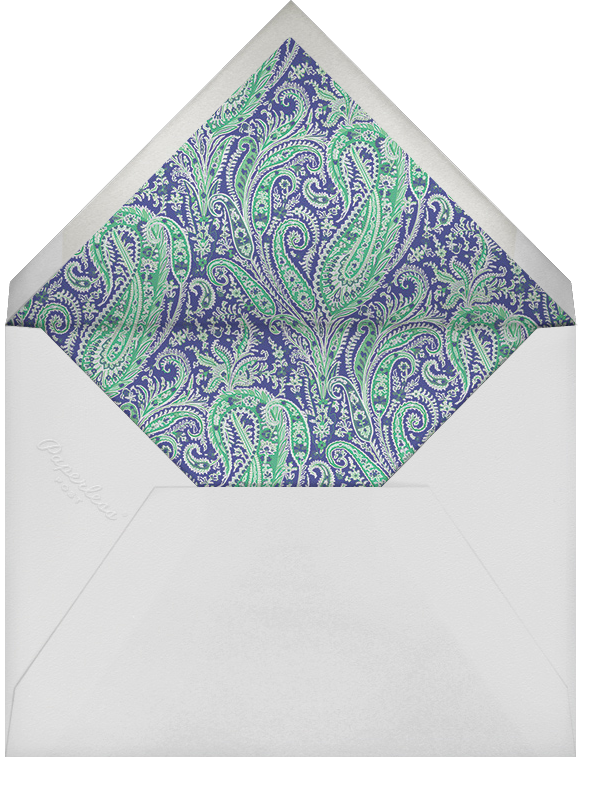Felix and Isabelle (Photo Save the Date) - Green - Liberty - Envelope