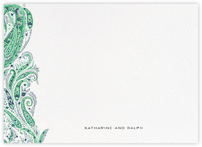 Felix and Isabelle (Stationery) - Green - Liberty - Liberty London Stationery