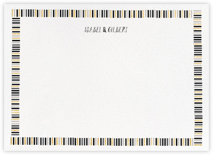 Miss Gigi (Stationery) - Metallic - Mr. Boddington's Studio - Personalized stationery