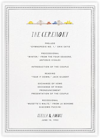 Mr. Big Apple (Program) - Mr. Boddington's Studio - Wedding menus and programs - available in paper