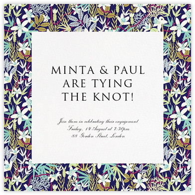 Stanley - Royal Blue - Liberty - Engagement party invitations