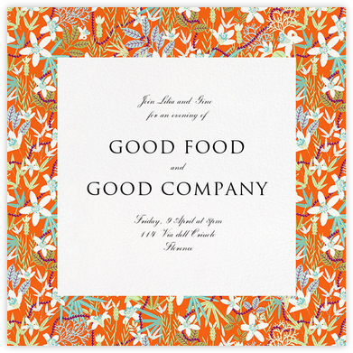 Stanley - Orange - Liberty - Liberty London wedding stationery