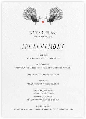 Mr. Waris (Program) - Mr. Boddington's Studio - Wedding menus and programs - available in paper